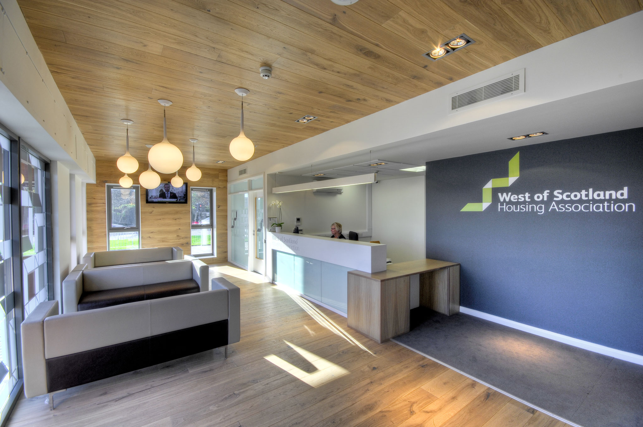 Graven Was Commissioned By West Of Scotland Housing Association To Design The Interior Their Offices And Redesign Visual Brand