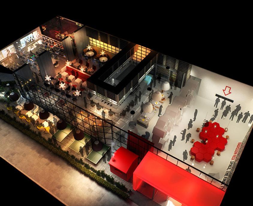 Radisson Red Brand Development 3D Visual